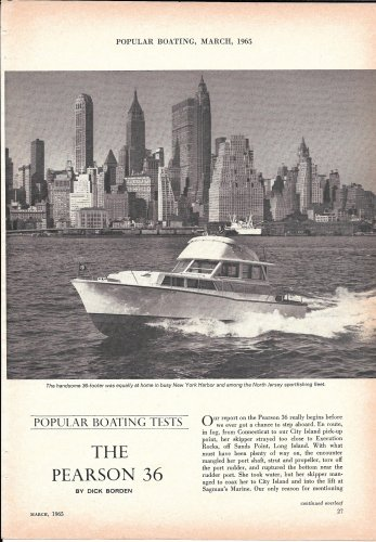1965 Pearson 36 Yacht Review & Specs- Nice Photos