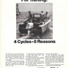 1968 Fisher- Pierce Homelite 55 HP. Outboard Motor Ad- Nice Photo