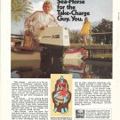 1971 Johnson 60 HP. Outboard Motor Color Ad- Nice Photo- Hot Girl