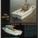 1971 Stamas V-21 Apollo Boat Color Ad- Nice Photos