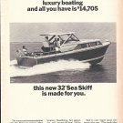 1965 Chris- Craft 32' Sea Hawk Yacht Ad- Nice Photo