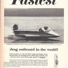 1965 Champion Spark Plugs Ad- Great Photo of Hydroplane