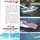 1965 MFG Boat Company Color Ad- Nice Photos of 4 Models