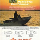 Old Aquasport Boat Color Ad- Nice Photo