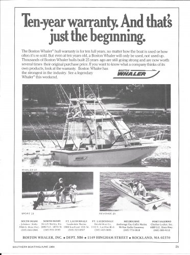 1984 Boston Whaler Boats Ad- Photos of 3 Models