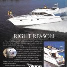 1999 Viking Sport Cruisers Color Ad- Nice Photo 52 Flybridge