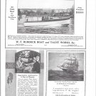 1925 W F Ruddock Boat & Yacht Works Ad-Nice Photo 32' Cruiser