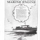 1925 Wright Typhoon Marine Engine Ad- Nice Photo Yacht Corisande