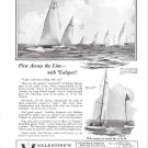 "1925 Valentine's Valspar Varnish Ad- Photo of Yacht ""Lanai"""