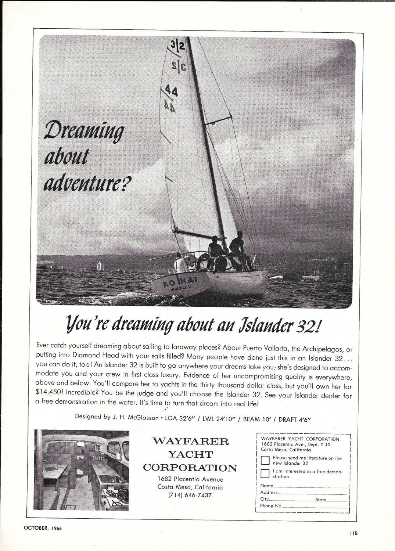 1965 Wayfarer Islander 32 Yacht Ad- Nice Photo