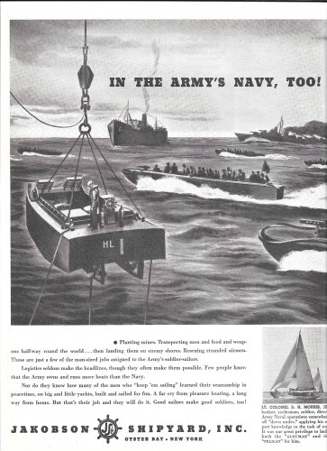 1944 WW II Jakobson Shipyard Ad- Military Boats
