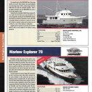 2004 Marlow Explorer 70 & Nordhavn 47 Yacht Reviews & Specs- Nice Photos