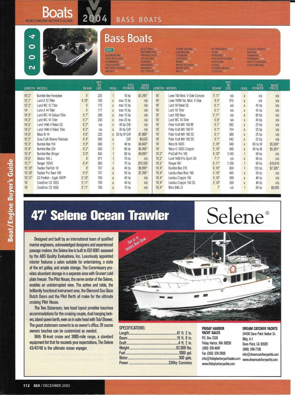 2004 Selene 47' Ocean Trawler Review & Specs- Nice Photo