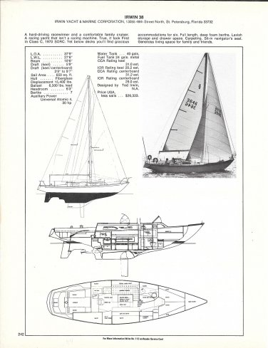 Old Irwin 38 Yacht Review & Specs- Nice Photo