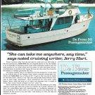 1973 De Fever 50' Passagemaker Yacht Color Ad- Nice Photo