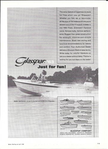 1963 Glasspar Seafair Sportsman Boat Ad Nice Photo Hot Girl