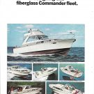 1966 Chris- Craft Commander Yachts 2 Page Color Ad- Nice Photos 6 Models