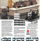 1987 Suzuki 40 HP Outboard Motor Color Ad- Nice Photo Wellcraft Boat
