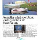 1994 Sea Ray Boats Color Ad- Nice Photo of 3 Models