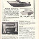 1957 Sea Sled Boats Ad- Nice Photo of Hydroplane 16'