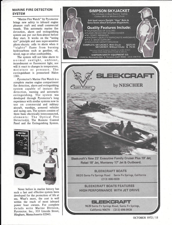1972 Sleekcraft Boats Ad- Nice Photo of 2 Models
