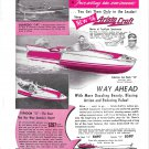 1956 Atlanta Boat Works Color Ad- Nice Photos Torpedo-Typhoon- Sea Flash