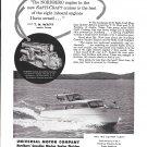 1957 Nordberg Gasoline Marine Engines Ad- Nice Photo 30' Safti- Craft Boat