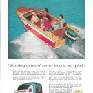 1957 Evinrude Outboard Motors Color Ad- Nice Photo
