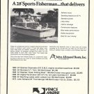 1972 John Allmand 28' Sports Fisherman Boat Ad- Nice Photo