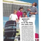 1974 Mercury 50 HP. Outboard Motor Color Ad- Nice Photo