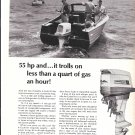 1965 Homelite 4- Cycle 55 HP Outboard Motor Ad- Nice Photo