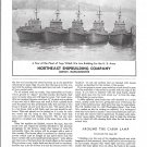 1944 WW II Northeast Shipbuilding Co Ad-Nice Photo U S Army Tugs