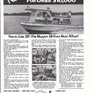 1970 Nauta- Line 28' Houseboat Ad- Nice Photo