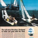 1970 Chrysler Marine Sailboats Color Ad- Nice Photo of 4 Models