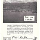 1965 Chubb Insurance Co Ad- Nice Photo of Port-of-Spain Trinidad