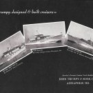 1960 John Trumpy & Sons Yachts Ad- Nice Photos of 3 Models