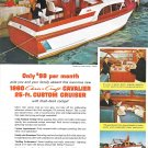 1960 Chris- Craft 25' Cavalier Yacht Color Ad- Nice Photos