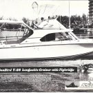 1970 SeaBird V-28 Flybridge Yacht Ad- Great Photo