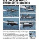 1966 AC Marine Spark Plugs Ad- Nice Photos of 5 Hydroplanes