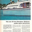 1966 Hatteras 34' Double Cabin Cruiser 2 Page Color Ad