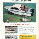 1966 Traveler Boats Color Ad- Nice Photos of 3 Models- Hot Girl