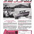 1966 Owens Yacht Company Ad- Nice Photo of Owens 24' Wildcat
