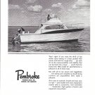 1966 Pembroke 32' Sportfisherman Yacht Ad- Nice Photo