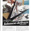 1968 Johnson Outboard Motors Color Ad- Nice Photos- Clowns Skiing