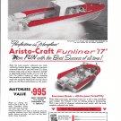 1960 Atlanta Boat Company Ad- Nice Photos of Aristo- Craft Funliner 17'