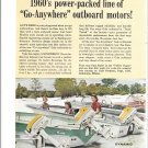 1960 Gale Outboard Motors 2 Page Color Ad- Nice Photo of V  Sovereign 60 HP
