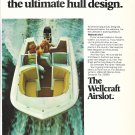 1970 Wellcraft Marine 2 Page Color Ad- Nice Photo of Airslot- Hot Girl