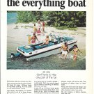 1970 Evinrude Dolphin Boat Color Ad- Nice Photo- Hot Girls