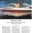 1996 Maxum 1900 Boat Review & Specs- Nice Photos