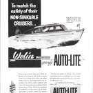 1952 Auto- Lite Ad- Nice Photo of Welin 26' Boat